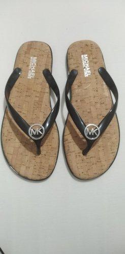 Michael Kors Flip-Flop Sandals black-silver-colored