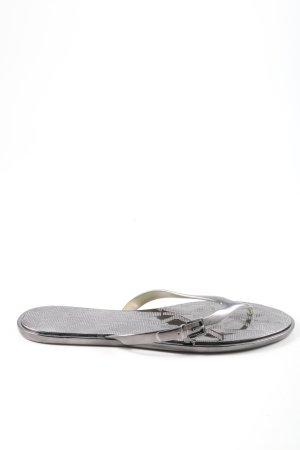 Michael Kors Flip Flop Sandalen schwarz Glanz-Optik