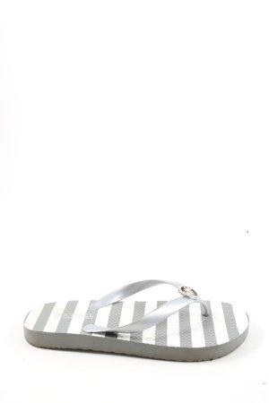 Michael Kors Flip-Flop Sandals light grey-white striped pattern casual look