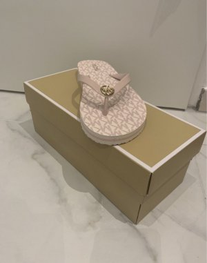 Michael Kors Chaussons de bain or rose-blanc