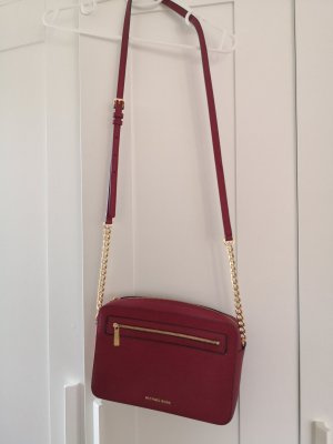 Michael Kors Frame Out Large Crossbody Cherry