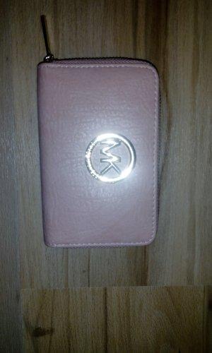 Michael Kors Fulton Kiesel Pink Blüte Leder Zip Continental Portemonnaie, Clutch