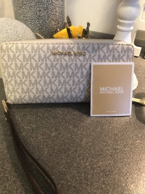 Michael Kors Wallet natural white-black brown