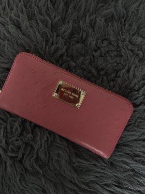 Michael Kors Portefeuille rose cuir