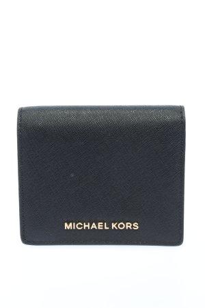 Michael Kors Geldbörse schwarz-goldfarben Schriftzug gedruckt Casual-Look