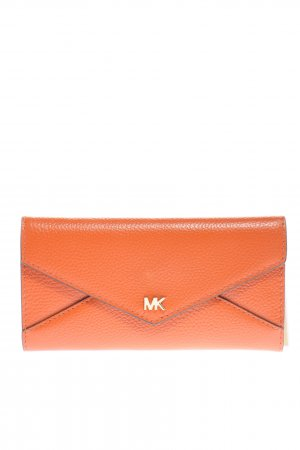 Michael Kors Geldbörse hellorange-goldfarben Motivdruck Business-Look