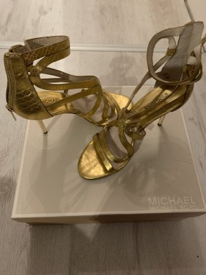 Michael Kors goldenen Sandale/ High Heels offen