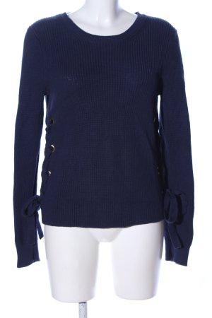 Michael Kors Grobstrickpullover blau Casual-Look