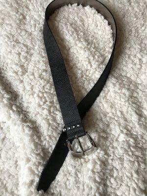 Michael Kors Studded riem zwart-zilver