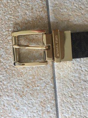 Michael Kors Ceinture en cuir doré-brun