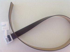Michael Kors Faux Leather Belt light grey-bronze-colored