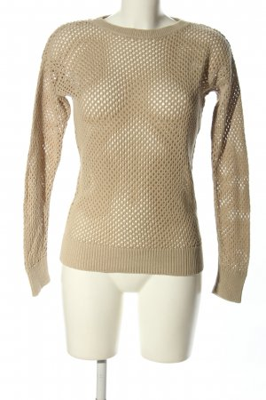 Michael Kors Crochet Sweater natural white elegant