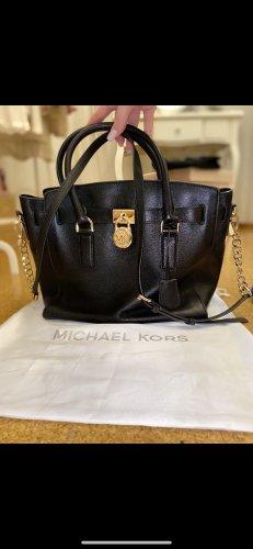 Michael Kors Crossbody bag black-gold-colored