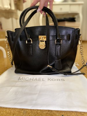 Michael Kors Bolso barrel negro-color oro