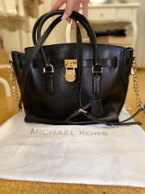 Michael Kors Borsa con manico nero-oro Pelle