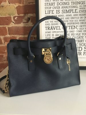 Michael Kors Hamilton Bag in marineblau