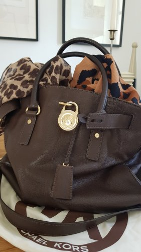 Michael Kors Carry Bag gold-colored-dark brown leather