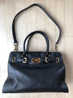 Michael Kors Hamilton Handtasche schwarzes Leder
