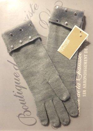 Michael Kors Guanto con dita grigio chiaro-argento