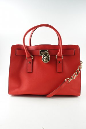 Michael Kors Handtasche rot-goldfarben Business-Look