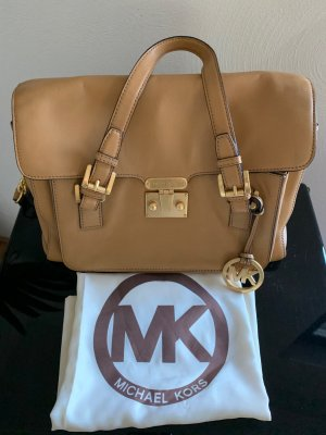 Michael Kors Handtasche, beige/cognac