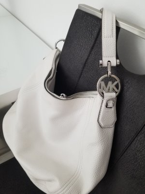 Michael Kors Hobo biały-srebrny Skóra