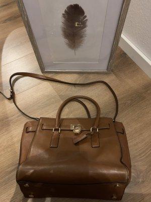 Michael Kors Handtasche Gold Cognac Hamilton Leder Tasche