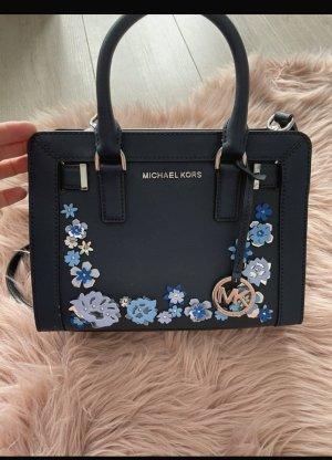 Michael Kors Handtasche Leder blau Blumen
