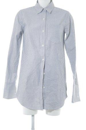 Michael Kors Hemd-Bluse weiß-schwarz Streifenmuster Business-Look