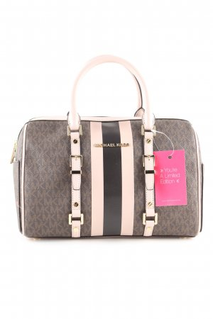 Michael Kors Henkeltasche hellgrau-creme Allover-Druck Business-Look