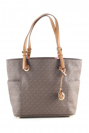 Michael Kors Henkeltasche braun Allover-Druck Business-Look