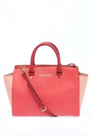 Michael Kors Bolso barrel rosa-crema look casual