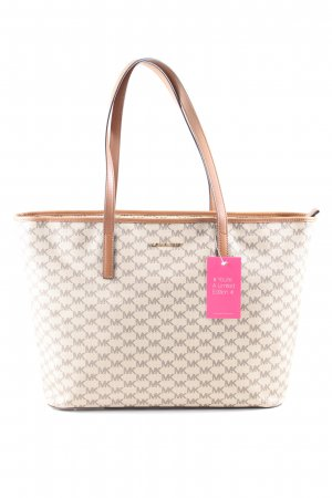 Michael Kors Henkeltasche creme-braun Allover-Druck Business-Look