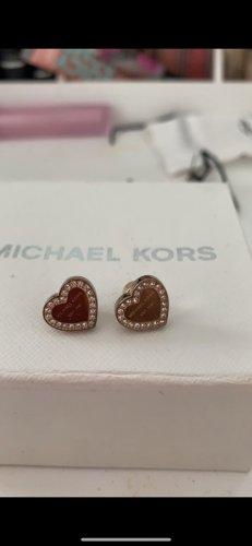 Michael Kors Pendientes de oro color rosa dorado