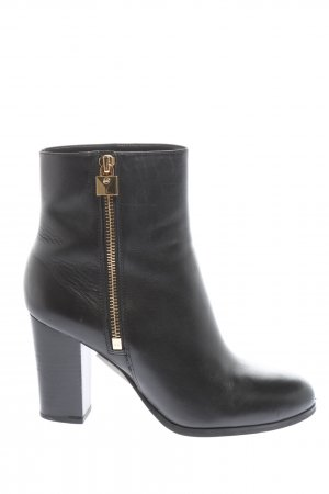 Michael Kors Ankle Boots schwarz-goldfarben Casual-Look