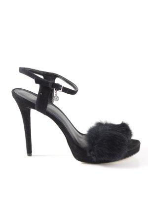 Michael Kors High Heel Sandaletten schwarz extravaganter Stil