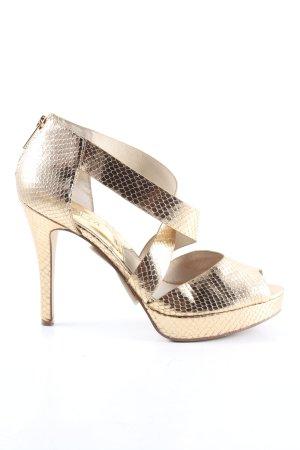 Michael Kors High Heel Sandaletten goldfarben Elegant