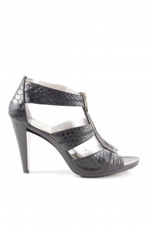 Michael Kors High Heel Sandaletten schwarz Animalmuster extravaganter Stil