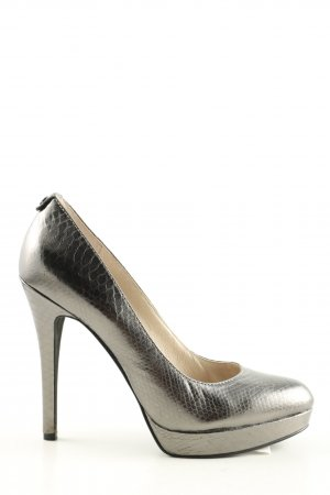 Michael Kors High Heels silberfarben Animalmuster Glanz-Optik