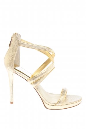 Michael Kors High Heels goldfarben Allover-Druck Elegant