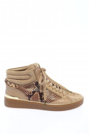 Michael Kors High Top Sneaker braun Animalmuster Casual-Look