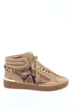 Michael Kors High top sneaker bruin dierenprint casual uitstraling