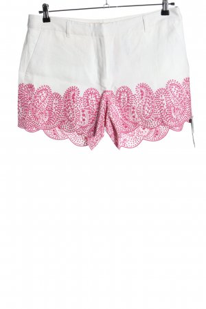Michael Kors High-Waist-Shorts weiß-pink Motivdruck Casual-Look