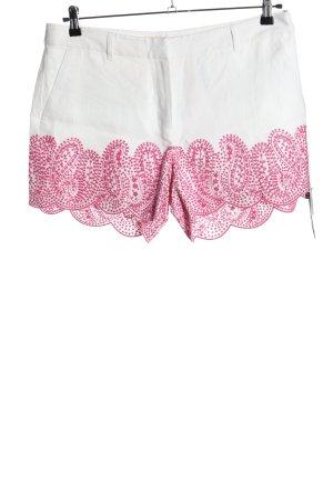 Michael Kors Pantaloncino a vita alta bianco-rosa Stampa a tema stile casual