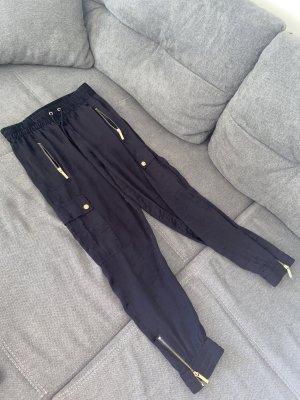 Michael Kors Baggy Pants dark blue-gold-colored
