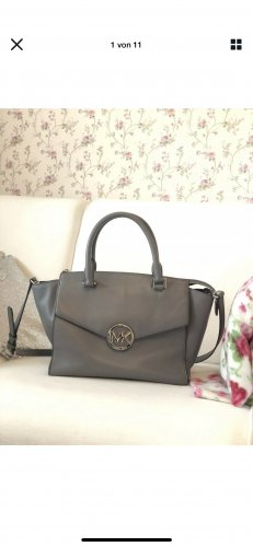Michael Kors Tote silver-colored-light grey leather