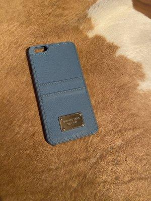 Michael Kors I Phone 8 Plus Leder Handyhülle blau mit Kartenfach