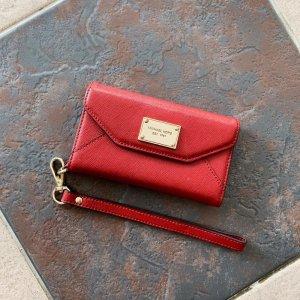 Michael Kors Étui pour téléphone portable rouge brique-rouge foncé cuir