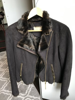 Michael Kors Faux Leather Jacket multicolored fake fur