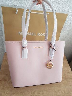 Michael Kors Jet Set carryall Tasche Handtasche blossom Rosa Rose Leder Neu